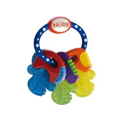 Nuby Beißring Beißring Schlüssel mit Eisgel, blau