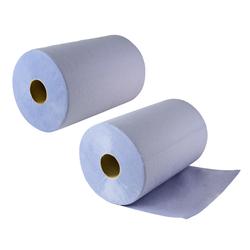 2 Putzrollen / Papier Putztücher 3-lagig je 500 Abrisse 36,5x35 cm
