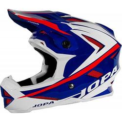 Jopa Flash Fahrradhelm - Blau/Weiß/Rot - XS