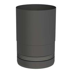 Ø 100 mm Pelletofenrohr Ofenanschlussstück mit Einzug Schwarz