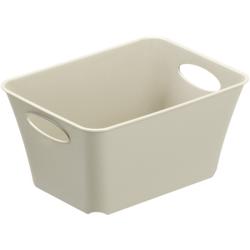 Rotho LIVING Box, 1,5 Liter, Aufbewahrungsbox, Maße: 180 x 134 x 90 mm, Farbe: cappuccino