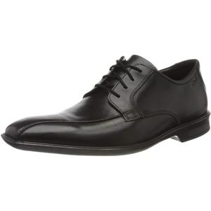 Clarks Herren Bensley Run Derbys, Schwarz (Black Leather Black Leather), 46 EU