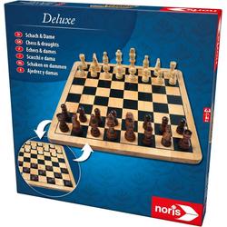 Noris Spiel, Brettspiel Deluxe Holz - Schach & Dame