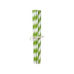 20 Trinkhalme aus Papier grün