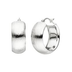 JOBO Paar Creolen, breit 925 Silber