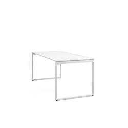 Schreibtisch Pop Bench Square weiß, 74x180x80 cm