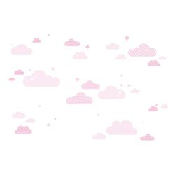 lovely label Wandsticker Wolken rosa