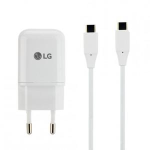 Schnell-Ladegerät Original LG MCS-N04ER mit USB Typ-C Ausgang, inkl. doppel U...