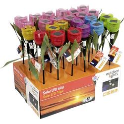 Solar-Dekoleuchte Blume 5er Set LED Sortiert (Farbauswahl nicht möglich)