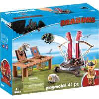 Playmobil Dragons Grobian mit Schafschleuder 9461