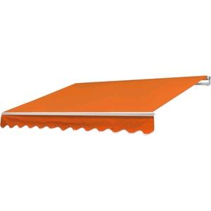 Mendler Alu-Markise T791, Gelenkarmmarkise Sonnenschutz 4,5x3m ~ Polyester Terrakotta