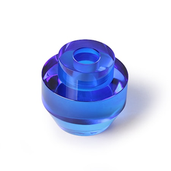 HKliving Kristallglas Kerzenhalter Blau