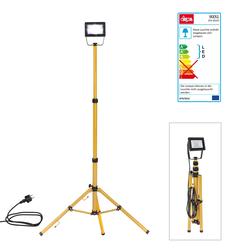 LED-Strahler Slim 20W mit Stativ Strahler Baustrahler