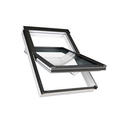 Fakro Kunststoff Austauschfenster PTP-V U3 für alte Velux Dachfenster von 1991-2013 inkl. Austauscheindeckrahmen EHU