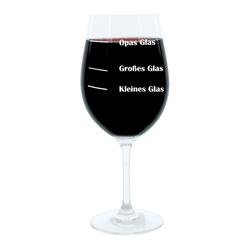 LEONARDO Weinglas XL, mit Gravur, Opas Glas, Geschenk, Glas