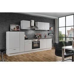 Menke Küchen Küchenzeile White Classic 310 cm, inkl. Geschirrspüler - weiß