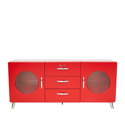 Retro Sideboard in Rot lackiert modern