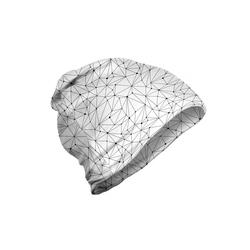Abakuhaus Beanie Wandern im Freien Weiß Modernistic Netzlinien Dot