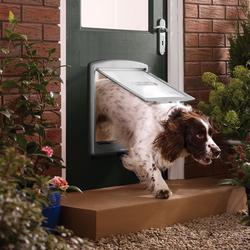 Petsafe Hundeklappe / Hundetür 2-Wege für große Hunde grau
