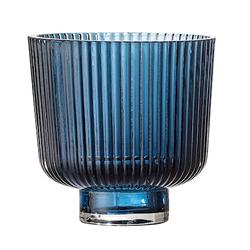 Bloomingville Windlicht Glas blau Ø 9 cm