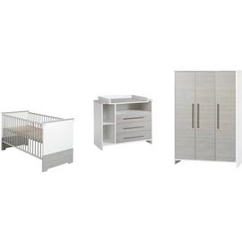 Schardt Kinderzimmer Eco Silber 3-tlg. mit 3-türigem Schrank