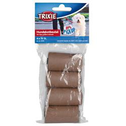 TRIXIE Hundekotbeutel, kompostierbar 4 Rollen à 10 Btl.