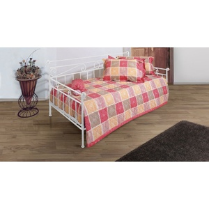 Tagesbett Metall ausziehbar Plata - 80x200 cm - weiß