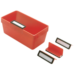 Etikettenhalter Polystyrol mit Papierstreifen