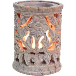 Guru-Shop Duftlampe Indische Duftlampe, ätherisches Öl Diffusor,.. 6 cm x 8 cm x 6 cm
