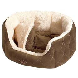 Nobby Hundebett Ceno beige/braun, Maße: 65 x 57 x 22 cm