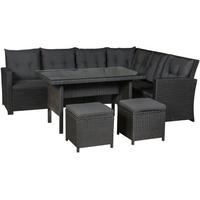 ArtLife Santa Catalina Lounge-Set schwarz/dunkelgrau