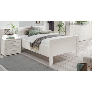 Preiswertes Seniorenbett in Weiß mit Fußteil 100x220 cm - Calimera