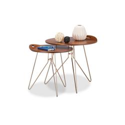 relaxdays Beistelltisch Beistelltisch 2er Set Holz