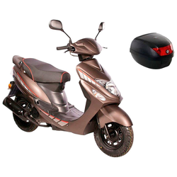 AGM MOTORS Motorroller GMX 460 Sport, 50 ccm, 45 km/h, Euro 4, inkl. Topcase braun