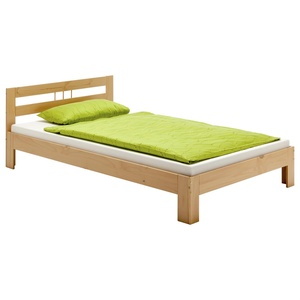Einzelbett Bett Jugendbett Kieferbett Bettgestell massiv, natur weiß buchefarben