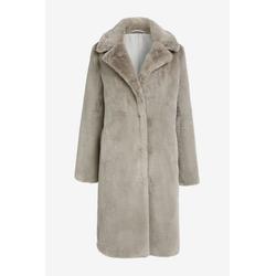 Next Fellimitatmantel Langer Mantel aus Kunstfell grau 42