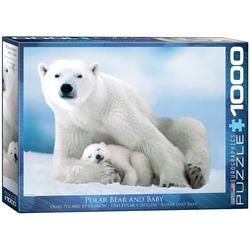 empireposter Puzzle Eisbären Mama mit schlafendem Baby - 1000 Teile Puzzle - Format 68x48 cm, 1000 Puzzleteile