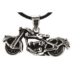 Kiss of Leather Kettenanhänger Motorrad Anhänger 925 Sterling Silber Moped Bike Biker Rocker Motorbike