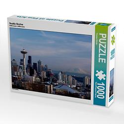 Seattle Skyline Lege-Größe 64 x 48 cm Foto-Puzzle Bild von TomKli Puzzle