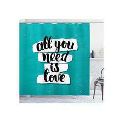 Abakuhaus Duschvorhang Moderner Digitaldruck mit 12 Haken auf Stoff Wasser Resistent Breite 175 cm, Höhe 200 cm, Zitat Pinsel Schriftarten Inspiration 175 cm x 200 cm