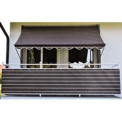 Angerer Freizeitmöbel Klemmmarkise, braun-weiß, Ausfall: 150 cm, versch. Breiten braun Klemm-Markisen Markisen Garten Balkon Klemmmarkise