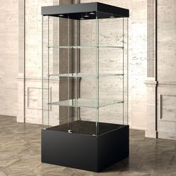Museum Vitrine Nero schwarz 80 x 80 cm