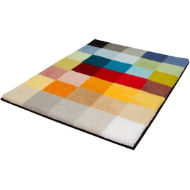 Kleine Wolke Cubetto Badteppich, Polyacryl, Mehrfarbig, 65 x 90 cm