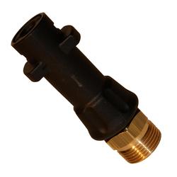 Adapter Bajonett K Stecker ( Kärcher), Material: Kunststoff, Eingang: Bajonett Kärcher, Ausgang: Bajonett KW
