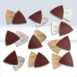 Schleifblätter Set für Dreieckschleifer / Deltaschleifer 100-tlg.