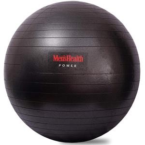 MEN'S HEALTH POWER Gymnastikball | Gymnastikball ideal für Stabilitätstraining, zur Körperstraffung, Gym Ball-Push Ups, Klappmessern und Stability Crunches (Ø 75 cm schwarz)