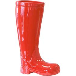 GILDE Schirmständer Regenschirmständer Stiefel, rot (1 Stück), für Regenschirme, Höhe 45 cm, Gummistiefel-Form, aus Keramik