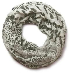 styleBREAKER Loop Loop mit Leoparden Print Loop mit Leoparden Print grau