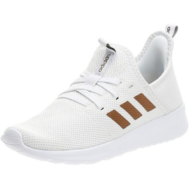 adidas Womens Cloudfoam Pure Sneaker, Footwear White/Tactile Gold Metallic/Metal Grey, 40 EU