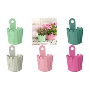 emsa Blumenkübel LANDHAUS Fässchen, rund, altrosa Durchmesser: 155 mm, Pflanzhöhe: 140 mm, Gesamthöhe: 220 mm - 1 Stück (517510)